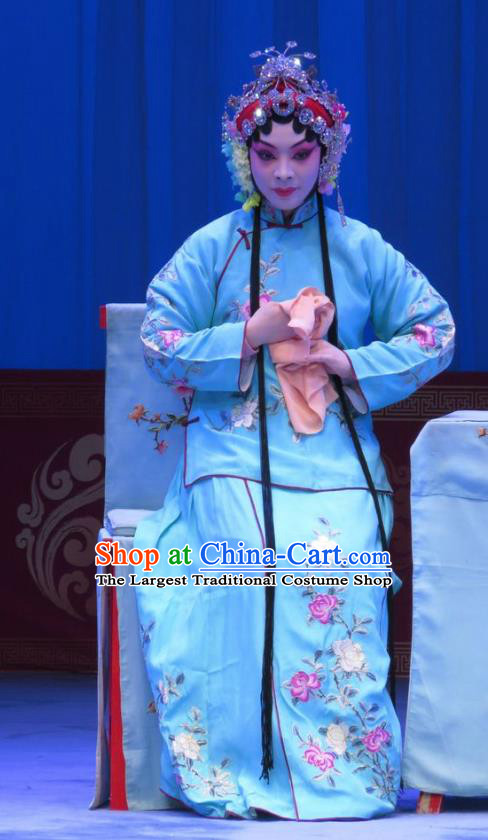 Chinese Ping Opera Hua Tan Costumes Apparels and Headpieces The Beautiful Courtesan Traditional Pingju Opera Actress Du Shiniang Dress Garment