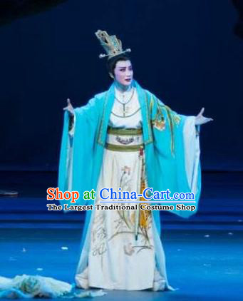 Chinese Yue Opera Royal Highness Niche Apparels Zhen Huan Shaoxing Opera Xiao Sheng Costumes Young Male Garment and Headpieces