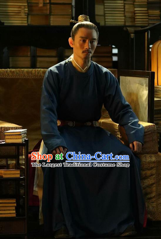 Chinese Ancient Emperor Informal Clothing Drama Serenade of Peaceful Joy Song Dynasty Renzong Zhao Zhen Historical Costumes and Headpieces