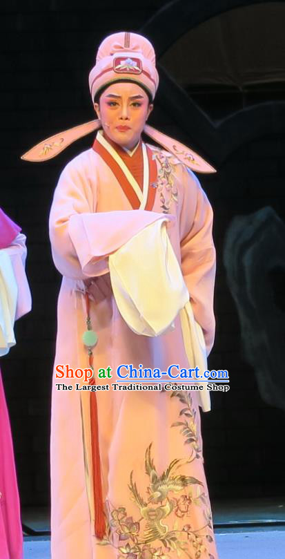 Chinese Yue Opera Gifted Scholar Costumes and Hat Shaoxing Opera Dong Xiaowan And Mao Bijiang Apparels Niche Garment