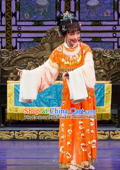 Chinese Shaoxing Opera Noble Female Dress Yue Opera Wu Nv Bai Shou Elderly Daughter Apparels Hua Tan Garment Costumes and Headpieces