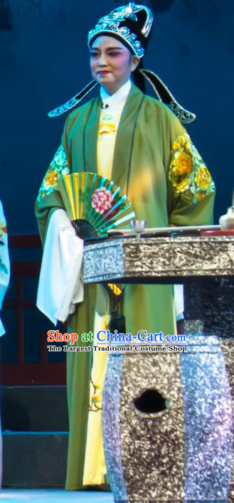 Chinese Yue Opera Young Male Lu You And Tang Wan Wedding Costumes and Hat Shaoxing Opera Scholar Apparels Xiao Sheng Embroidered Robe Garment
