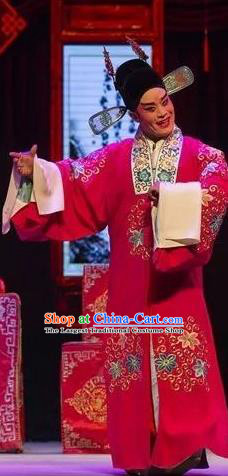 Chinese Yue Opera Scholar Tell On Sargam Young Male Costumes and Headwear Shaoxing Opera Xiaosheng Apparels Garment Clothing