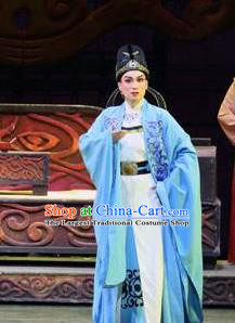 Chinese Yue Opera Scholar Farewell Song of Da Tang Costumes and Hat Shaoxing Opera Xiaosheng Garment Young Male Xue Shao Apparels Clothing
