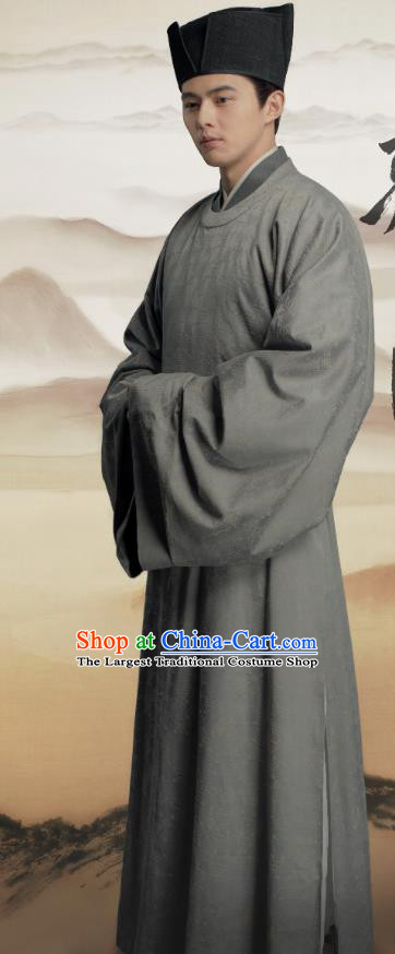 Chinese Ancient Chief Eunuch Clothing Historical Drama Serenade of Peaceful Joy Song Dynasty Court Servant Zhang Maoze Costumes Garment and Hat