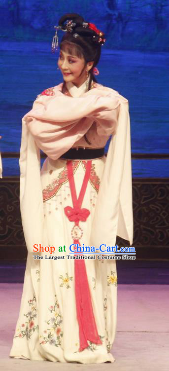 Chinese Shaoxing Opera Young Lady Dress A Bride For A Ride Wang Xiuying Apparels and Headpieces Yue Opera Diva Garment Costume