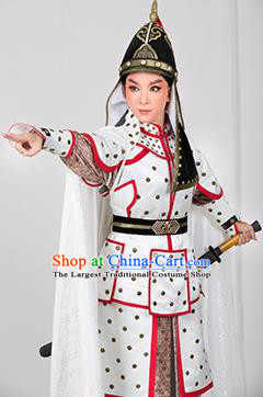 Chinese Yue Opera Young Male Garment and Hat Romance of the King Regency Shaoxing Opera Apparels General Armor Costumes