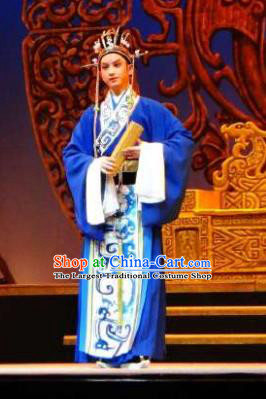 Chinese Yue Opera County Magistrate Apparels Costumes and Hat Shaoxing Opera Changle Palace Dong Xuan Garment Official Clothing