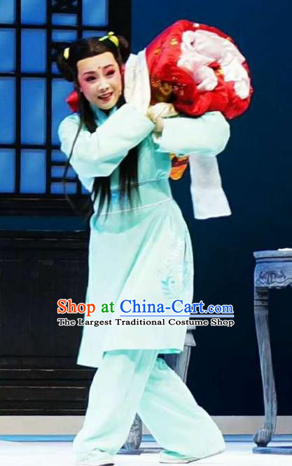 Chinese Yue Opera Wa Wa Sheng Apparels Xiang Luo Ji Costumes and Headwear Shaoxing Opera Young Boy Chang Xiaozu Garment Clothing