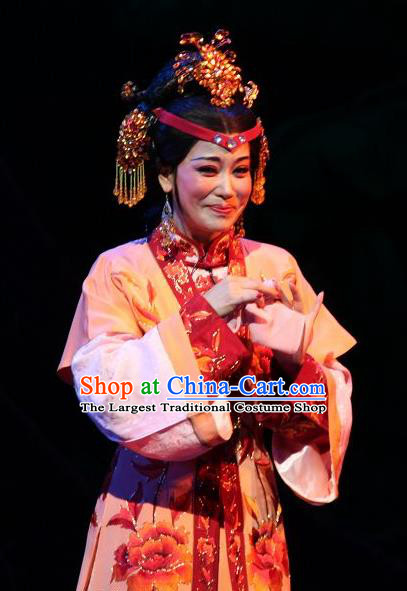 Chinese Shaoxing Opera Feng Jie Young Female Apparels and Headwear Yue Opera Huadan Wang Xifeng Dress Garment Costumes