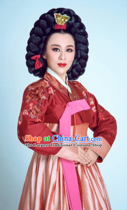 Chinese Shaoxing Opera Elderly Female Garment and Headdress Chunh Yang Yue Opera Geisha Yue Mei Dress Apparels Costumes
