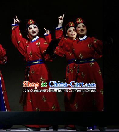 Liu Yong Chinese Yue Opera Figurant Wu Sheng Poet Garment and Headwear Shaoxing Opera Martial Male Red Apparels Costumes