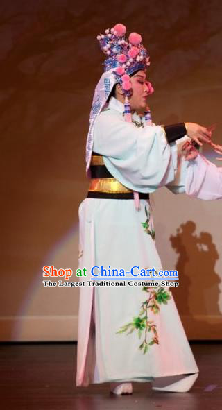 Chinese Yue Opera Xiaosheng Ji Su Apparels Costumes and Headwear From Love to Patriotism Deliver the Messenger Shaoxing Opera Takefu Young Male Garment