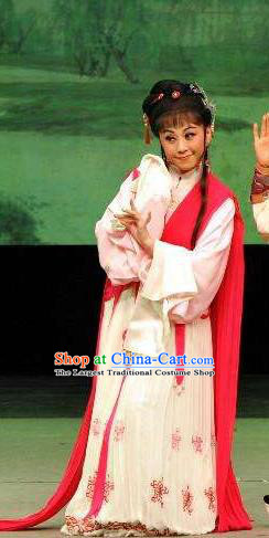 Chinese Shaoxing Opera Actress Apparels From Love to Patriotism Deliver the Messenger Costumes and Hair Accessories Yue Opera Queen Mianjiang Dress Garment