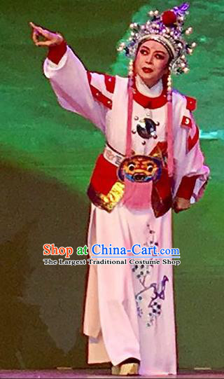 Chinese Yue Opera Takefu Ji Su Apparels and Headwear From Love to Patriotism Deliver the Messenger Shaoxing Opera Wusheng Young Male Garment Costumes