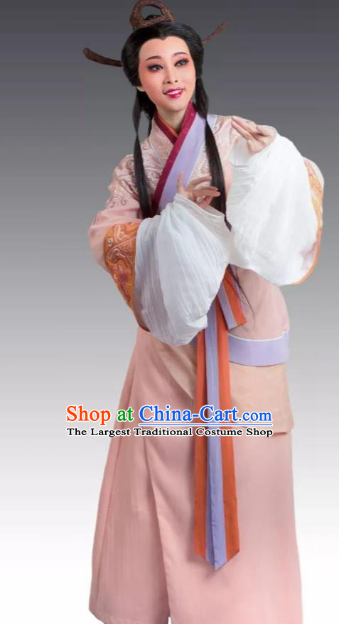 Chinese Shaoxing Opera Hua Tan Apparels From Love to Patriotism Deliver the Messenger Garment Costumes and Headpieces Yue Opera Noble Consort Mian Jiang Dress