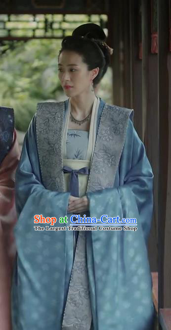 Chinese Song Dynasty Noble Dame Historical Costumes and Hair Accessories Drama Serenade of Peaceful Joy Ancient Court Lady Garment Dress Apparels