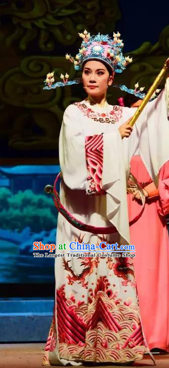 Chinese Yue Opera Li Mei Yue Young Male Clothing and Hat Shaoxing Opera Costumes Xiaosheng Apparels Garment Number One Scholar Official Robe