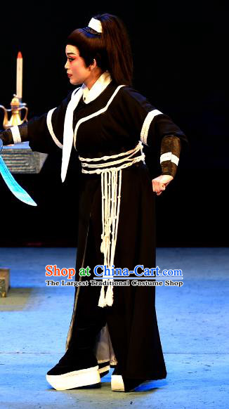 Wu Song Revenge Chinese Yue Opera Martial Male Wu Song Clothing and Headwear Shaoxing Opera Wusheng Apparels Garment Young Male Costumes