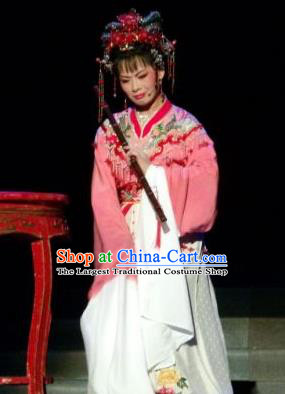 Chinese Shaoxing Opera Hua Tan Tang Meifen Dress Apparels and Headdress The Number One Scholar Is Not Love Yue Opera Garment Rich Female Costumes