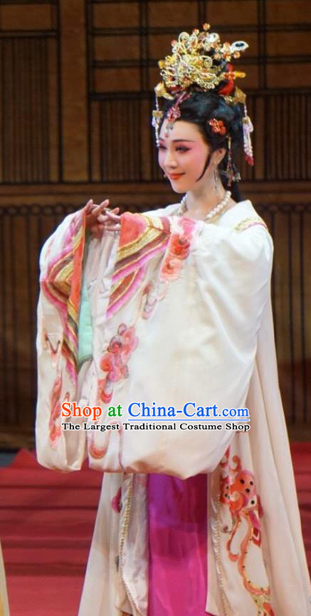 Emperor and the Village Girl Chinese Shaoxing Opera Imperial Consort Dress Costumes and Headdress Yue Opera Hua Tan Zhang Weijun Garment Apparels