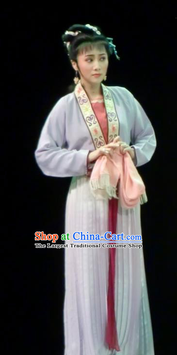 Chinese Shaoxing Opera Country Lady Dress Garment Costumes and Headdress Yue Opera Emperor and the Village Girl Xiaodan Young Female Apparels