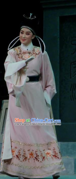 Chinese Yue Opera Scholar Costumes and Headwear Emperor and the Village Girl Shaoxing Opera Young Male Garment Apparels Young Male Robe