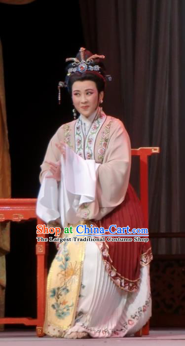 Chinese Shaoxing Opera Elderly Dame Dress Garment and Headpieces Yue Opera Emperor and the Village Girl Laodan Apparels Costumes