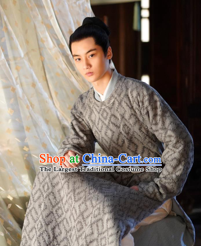 Chinese Song Dynasty Eunuch Historical Costumes and Headpiece Drama Serenade of Peaceful Joy Ancient Court Servant Liang Huaiji Garment Apparels