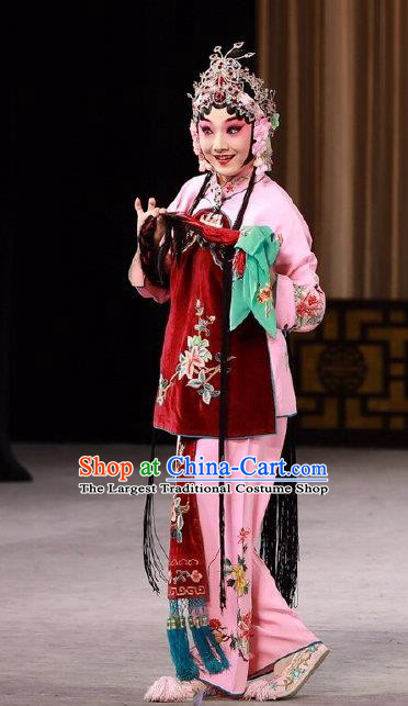 Chinese Beijing Opera Xiaodan Apparels Costumes and Headdress Love in the Wardrobe Traditional Peking Opera Young Lady Dress Diva Xu Cuilian Garment