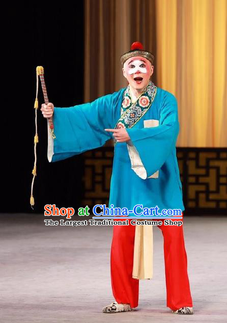 Love in the Wardrobe Chinese Peking Opera Chou Role Garment Costumes and Headwear Beijing Opera Clown Apparels Clothing