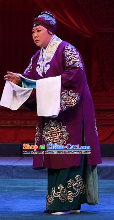Chinese Beijing Opera Old Woman Apparels Costumes and Headdress Love of Jade Hairpin Traditional Peking Opera Elderly Dame Dress Pantaloon Garment