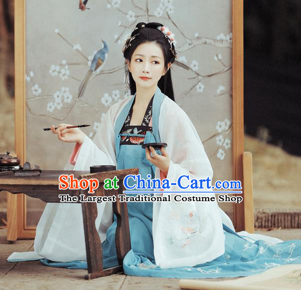 Chinese Traditional Tang Dynasty Noble Lady Apparels Historical Costumes Ancient Royal Princess Hanfu Dress Court Woman Garment