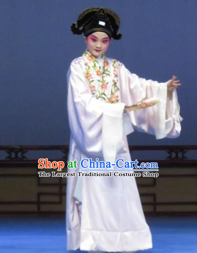 Tao Li Mei Chinese Ping Opera Young Male Zheng Shipeng Costumes and Hat Pingju Opera Scholar Apparels Clothing