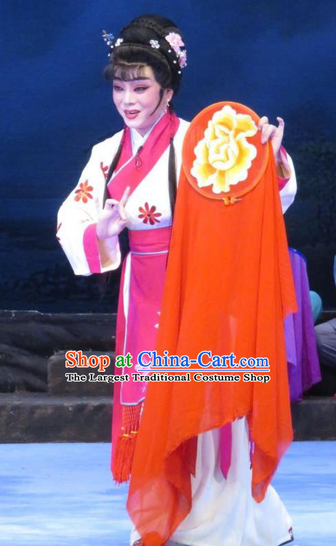 Chinese Ping Opera Country Woman Apparels Costumes and Headpieces Traditional Pingju Opera Pear Blossom Love Seamstress Li Hua Dress Garment