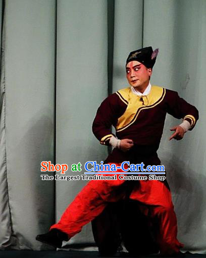 San Jie Lie Chinese Ping Opera Wusheng Garment Costumes and Headwear Pingju Opera Young Male Apparels Clothing