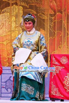 Chinese Ping Opera Rich Dame Apparels Costumes and Headpieces Selling Miaolang Traditional Pingju Opera Elderly Female Dress Garment
