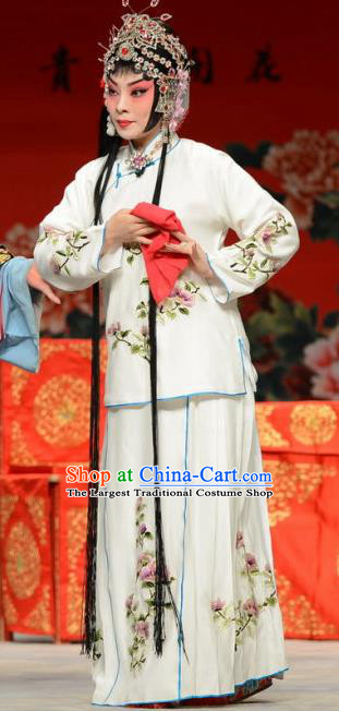 Chinese Ping Opera Huadan Xue Yaoqin Apparels Costumes and Headpieces The Oil Vendor and His Pretty Bride Traditional Pingju Opera Courtesan Dress Diva Garment