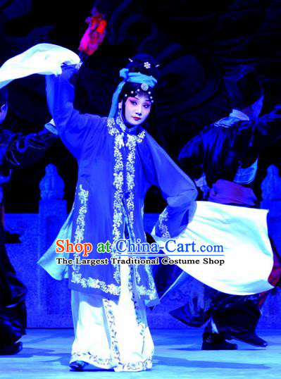 Chinese Ping Opera Tsing Yi Apparels Costumes and Headpieces Traditional Pingju Opera Palm Civet for Prince Noble Consort Li Dress Garment