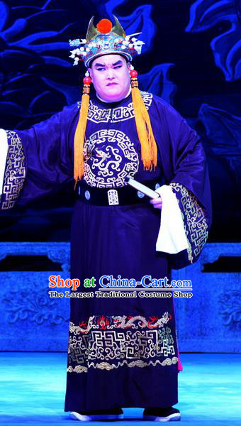 Palm Civet for Prince Chinese Ping Opera Court Servant Costumes and Headwear Pingju Opera Court Eunuch Guo Huai Apparels Clothing