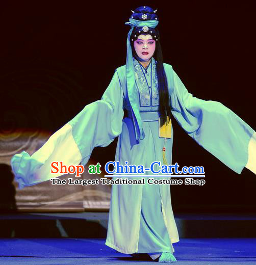 Chinese Ping Opera Noble Consort Li Apparels Costumes and Headpieces Da Song Zhong Yi Zhuan Traditional Pingju Opera Dress Distress Maiden Garment