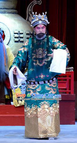 Chinese Ping Opera Laosheng Palm Civet for Prince Costumes and Headwear Pingju Opera Elderly Man Apparels Clothing
