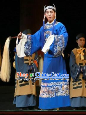 Chinese Ping Opera Xiaosheng Apparels Palm Civet for Prince Costumes and Headwear Pingju Opera Eunuch Chen Lin Clothing