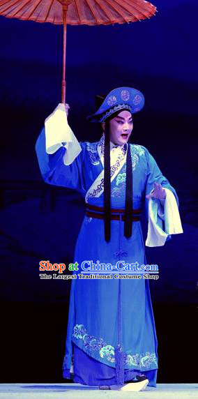 Tian Dao Xing Chinese Peking Opera Young Male Garment Costumes and Headwear Beijing Opera Xiaosheng Apparels Official Dong Hong Clothing