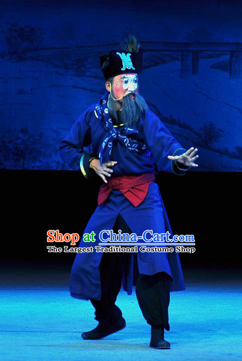 Tian Dao Xing Chinese Peking Opera Figurant Garment Costumes and Headwear Beijing Opera Runner Apparels Clothing