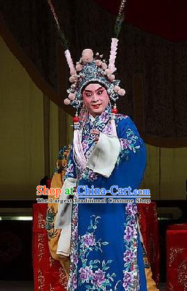 Jiu Jiang Kou Chinese Peking Opera Young Male Garment Costumes and Headwear Beijing Opera Wusheng Apparels Takefu Clothing
