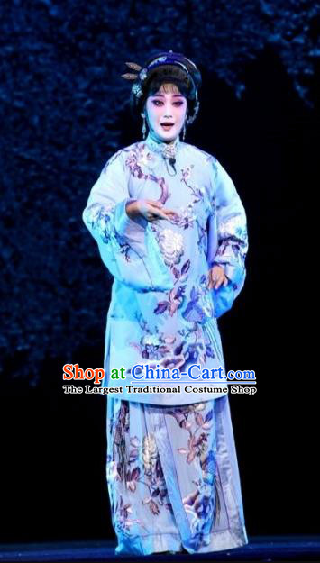 Chinese Beijing Opera Diva Wang Zhuqing Apparels Yue Zhao Sai Bei Costumes and Headdress Traditional Peking Opera Young Female Dress Garment