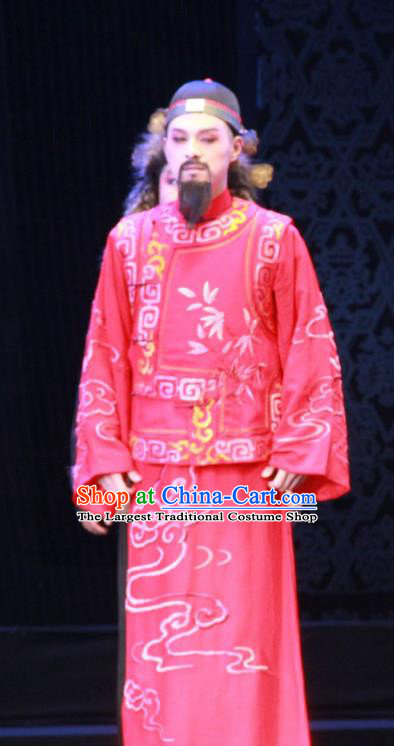 Yue Zhao Sai Bei Chinese Peking Opera Scholar Tang Tianyu Garment Costumes and Headwear Beijing Opera Male Wedding Apparels Clothing