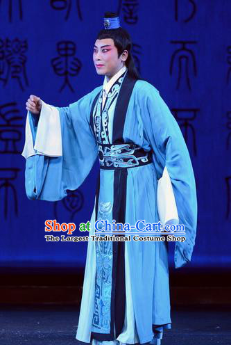 Qu Yuan Chinese Peking Opera Xiaosheng Garment Costumes and Headwear Beijing Opera Young Male Apparels Niche Song Yu Clothing
