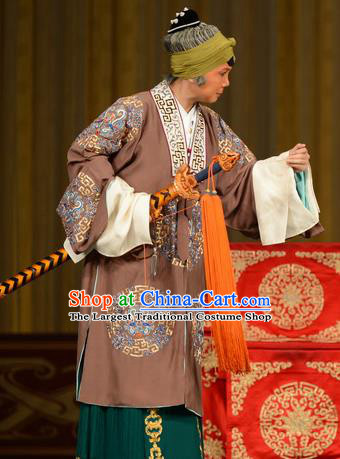 Chinese Beijing Opera Elderly Woman Apparels Zhan Jing Tang Costumes and Headpieces Traditional Peking Opera Dame Dress Garment
